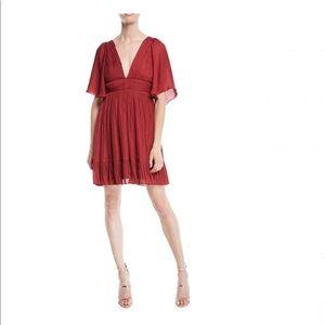 NEW Halston Heritage Flowy RED Dress Christmas 2